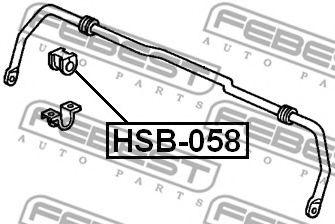 ВТУЛКА ЗАДНЕГО СТАБИЛИЗАТОРА D13 (HONDA CR-V RD1/RD2 1997-2001) FEBEST  арт. HSB058