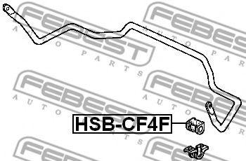 ВТУЛКА ПЕРЕДНЕГО СТАБИЛИЗАТОРА D26.5 (HONDA ACCORD CF3/CF4/CF5/CL1/CL3 1998-2002) FEBEST  арт. HSBCF4F
