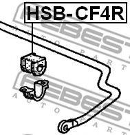 ВТУЛКА ЗАДНЕГО СТАБИЛИЗАТОРА D15 HONDA ACCORD CF3/CF4/CF5/CL1/CL3 1998-2002  арт. HSBCF4R