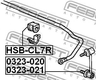 Втулка стабилизатора заднего  арт. HSBCL7R