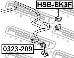 Втулка стабілізатора гумова  арт. HSBEK3F