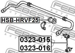 ВТУЛКА ПЕРЕДНЕГО СТАБИЛИЗАТОРА D25 HONDA HR-V GH1/GH2/GH3/GH4 1998-2005  арт. HSBHRVF25