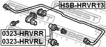 ВТУЛКА ЗАДНЕГО СТАБИЛИЗАТОРА D13 HONDA HR-V GH1/GH2/GH3/GH4 1998-2005  арт. HSBHRVR13