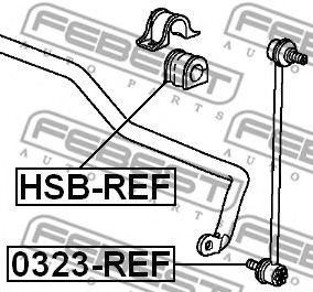Втулка стабилизатора переднего (Пр-во FEBEST)                                                         арт. HSBREF