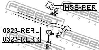 ВТУЛКА ЗАДНЕГО СТАБИЛИЗАТОРА D19 HONDA CR-V RE3/RE4 2007-2012  арт. HSBRER