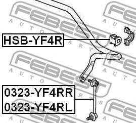 Втулка стабилизатора  арт. HSBYF4R