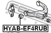 САЙЛЕНБЛОК ЗАДНЕГО ВЕРХНЕГО РЫЧАГА HYUNDAI SANTA FE (BB) 2000-2006  арт. HYABEF4RUB