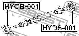 Подшипник подвесной  арт. HYCB001