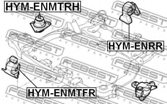 Подушка двигателя правая HYUNDAI I30 2007-2012 (пр-во FEBEST)                                         арт. HYMENMTRH