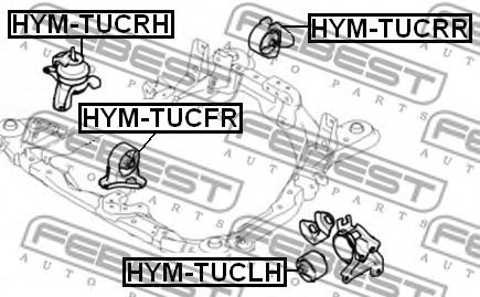 Подушка двигателя передняя HYUNDAI TUCSON 2004-2010 (пр-во FEBEST)                                    арт. HYMTUCFR