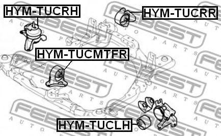 Подушка двигателя FEBEST HYMTUCMTFR