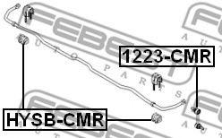 ВТУЛКА ЗАДНЕГО СТАБИЛИЗАТОРА D15,8 HYUNDAI SANTA FE (CM) 2006-  арт. HYSBCMR