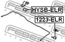 ВТУЛКА ЗАДНЕГО СТАБИЛИЗАТОРА D14.8 (HYUNDAI ELANTRA/LANTRA (CA) 2000-2006) FEBEST  арт. HYSBELR