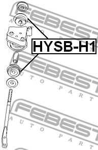ВТУЛКА ПЕРЕДНЕГО РЫЧАГА D16 HYUNDAI H-1 2001-  арт. HYSBH1