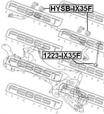 ВТУЛКА ПЕРЕДНЕГО СТАБИЛИЗАТОРА D25,5 HYUNDAI IX35/TUCSON 10MY 2009-  арт. HYSBIX35F