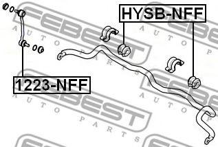 Втулка стабилизатора d=26.8  арт. HYSBNFF