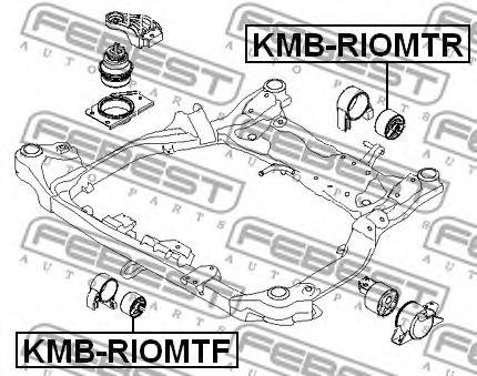 Опора двигателя(сайлентблок)  арт. KMBRIOMTR