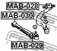 Сайлентблок переднего нижнего рычага  арт. MAB029