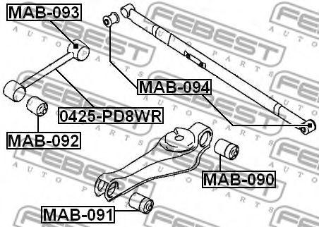 САЙЛЕНБЛОК ЗАДНЕЙ ПОДВЕСКИ MITSUBISHI L400 SPACE GEAR PD4W/PD5W 1994-2001  арт. MAB092