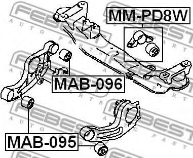 САЙЛЕНБЛОК ПОДУШКИ ДИФФЕРЕНЦИАЛА MITSUBISHI L400 SPACE GEAR PD4W/PD5W 1994-2001  арт. MAB095