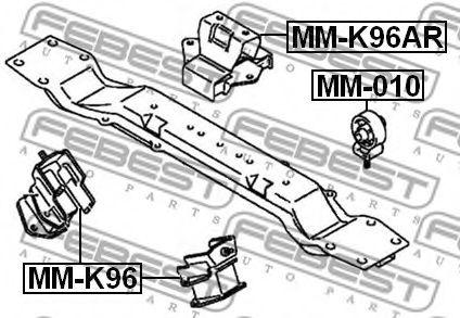 Подушка двигателя FEBEST MM010