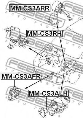 Подушка двигателя MITSUBISHI LANCER CS 2000-2009 (пр-во FEBEST)                                      FEBEST MMCS3AFR