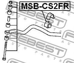 Втулка стабилизатора переднего (Пр-во FEBEST)                                                         арт. MSBCS2FR