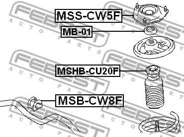 Опора амортизатора переднего FEBEST MSSCW5F