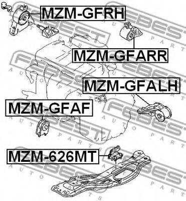 Подушка двигателя MAZDA 626 GE 1991-1997 (пр-во FEBEST)                                              FEBEST MZM626MT
