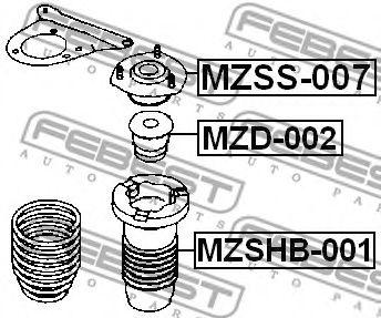 Защитный колпак / пыльник, амортизатор FEBEST MZSHB001