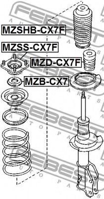 Опора амортизатора перед. MAZDA CX-7/9 FEBEST MZSSCX7F