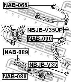 САЙЛЕНБЛОК ВЕРХНЕГО ПЕРЕДНЕГО РЫЧАГА INFINITI M35/45 (Y50) 2004-  арт. NAB065