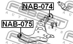 САЙЛЕНБЛОК ЗАДНИЙ ПЕРЕДНЕГО РЫЧАГА NISSAN TERRANO III PATHFINDER R50 1995-2003  арт. NAB074