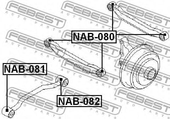 Сайлентблок  арт. NAB082