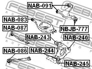 САЙЛЕНБЛОК ЗАДНЕГО РЫЧАГА INFINITI G35 (V35) 2002-2007  арт. NAB083