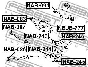 САЙЛЕНБЛОК ЗАДНЕЙ ПРОДОЛЬНОЙ ТЯГИ INFINITI M35/45 (Y50) 2004-  арт. NAB086
