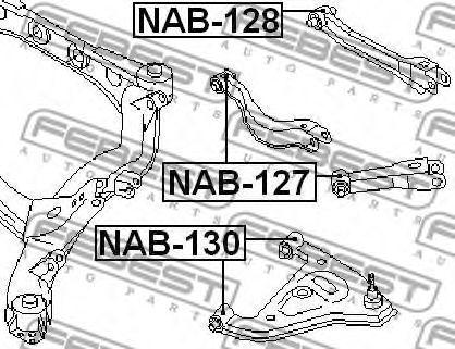 САЙЛЕНБЛОК ЗАДНЕГО РЫЧАГА NISSAN R-NESSA N30 1997-2001  арт. NAB127