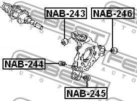 САЙЛЕНБЛОК ЗАДНЕЙ ЦАПФЫ NISSAN MURANO Z51 2007-  арт. NAB243