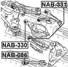 Сайлентблок (Пр-во FEBEST)                                                                            арт. NAB331