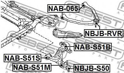 САЙЛЕНБЛОК ПЕРЕДНЕГО НИЖНЕГО РЫЧАГА INFINITI M35/45 (Y50) 2004-  арт. NABS51S