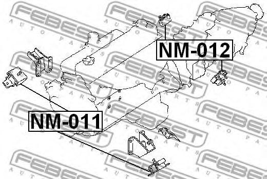 Подушка двигателя FEBEST NM011