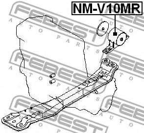Подушка двигателя задняя FEBEST NMV10MR