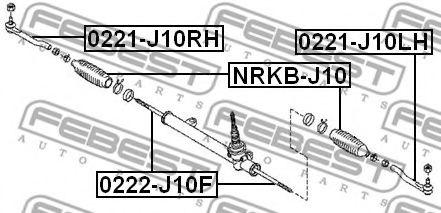 ПЫЛЬНИК РУЛЕВОЙ РЕЙКИ NISSAN QASHQAI J10F 2006- FEBEST NRKBJ10