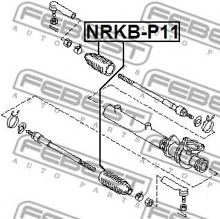 Пыльник рулевой рейки FEBEST NRKBP11