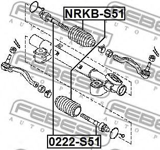 Пыльник рулевой рейки FEBEST NRKBS51