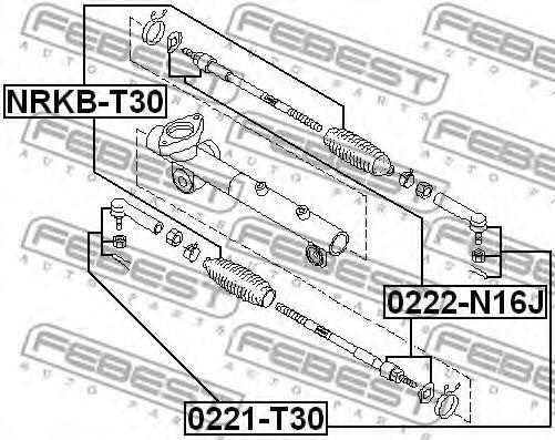 Пыльник рулевой рейки NISSAN X-TRAIL 00-06 (Пр-во FEBEST)                                            FEBEST NRKBT30