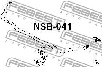 ВТУЛКА ПЕРЕДНЕГО СТАБИЛИЗАТОРА D26 (INFINITI FX45/35 (S50) 2002-2008) FEBEST  арт. NSB041