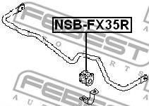 ВТУЛКА ЗАДНЕГО СТАБИЛИЗАТОРА D24 (INFINITI FX45/35 (S50) 2002-2008) FEBEST  арт. NSBFX35R