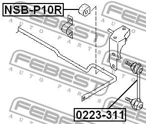 ВТУЛКА ЗАДНЕГО СТАБИЛИЗАТОРА D17 (NISSAN PRIMERA P10 1990-1996) FEBEST  арт. NSBP10R