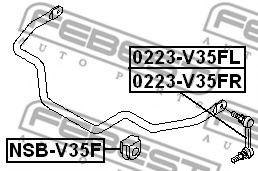 ВТУЛКА ПЕРЕДНЕГО СТАБИЛИЗАТОРА D33 INFINITI G35 (V35) 2002-2007  арт. NSBV35F